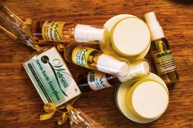 De nombreux produits pour les soins corporels